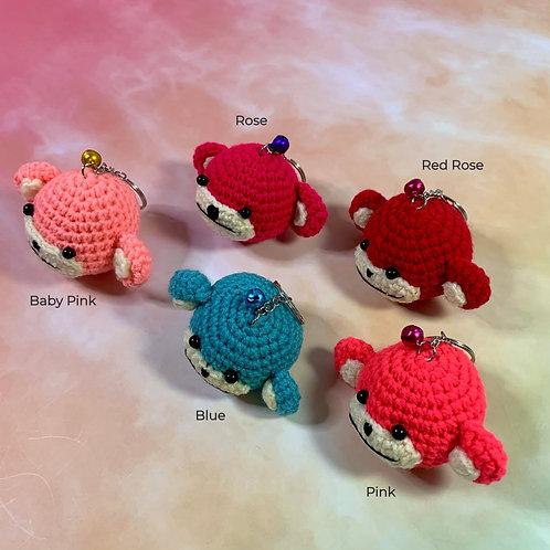 Hand Crocheted Monkey Dim Sum Key Ring