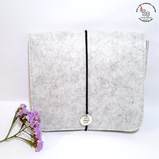Light Grey Felt Pouch for Cables