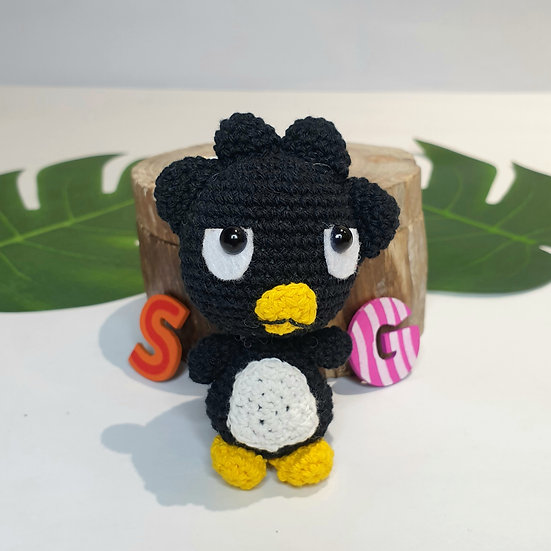 Hand Crocheted Black Bird Badtz-Maru