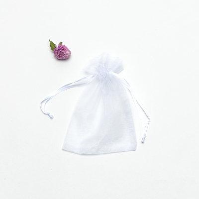 Add a drawstring organza pouch