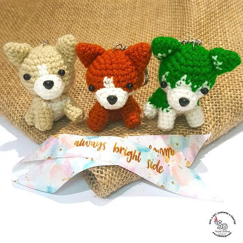 Hand Crocheted Animals Key Ring
