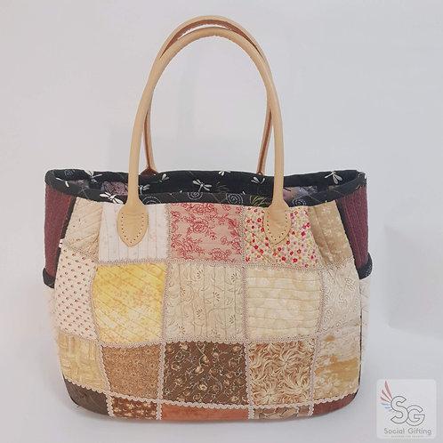 Hand sewn Patchwork Shoulder Bag (Pre-order)