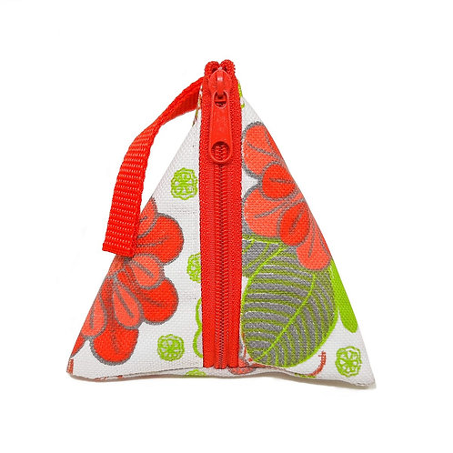 HANDMADE KETUPAT POUCH – RED-WHITE FLORAL