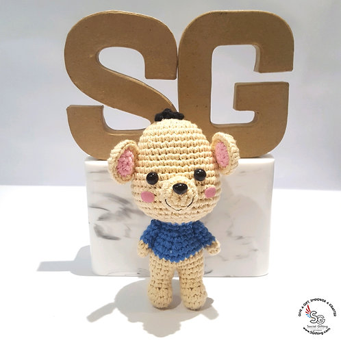 Hand Crocheted Mouse Key Ring