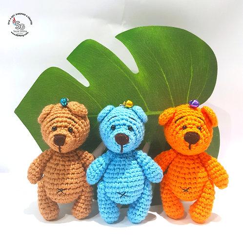 Hand Crocheted Bear Key Ring