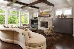 Ceiling Beams & Mantel