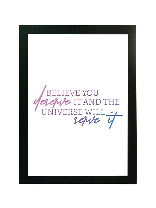 LOA Quote Digital Download - Believe You Deserve It