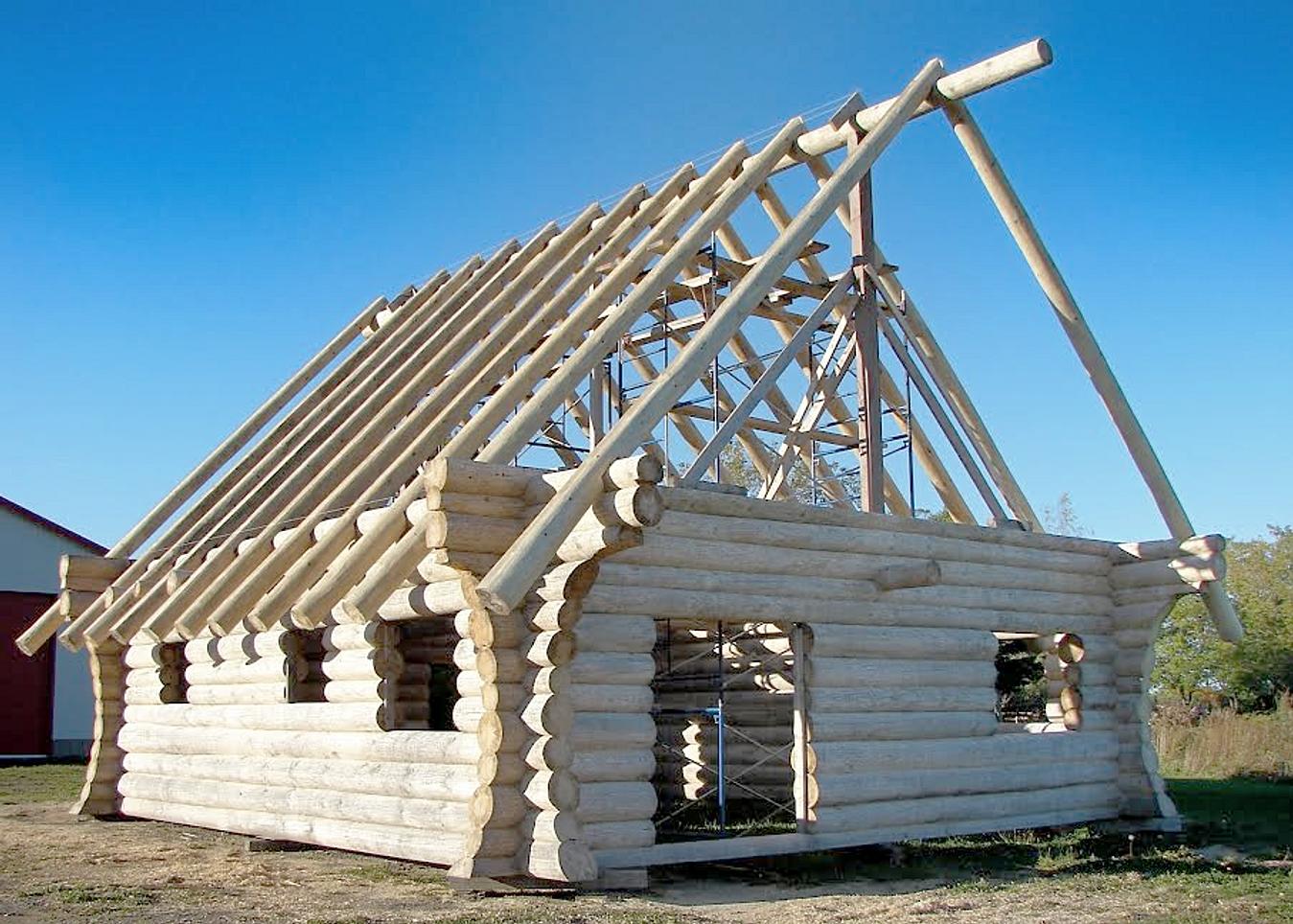Maisons bois rond en construction qu bec bois rond de for Maison en bois scandinave