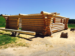 Structure maison bois rond