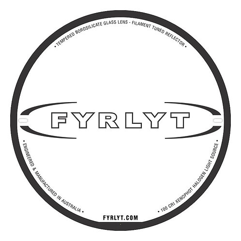 FYRLYT DRIVING LIGHT SINGLE LENS REPLACEMENT (LUXSIS & NEMESIS)