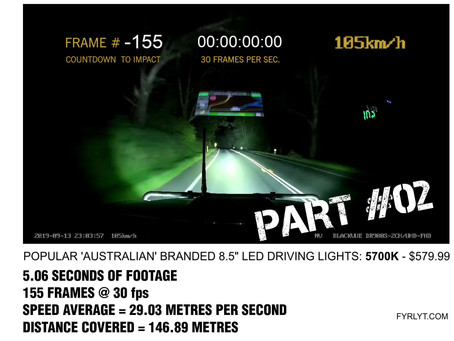 We CSI the video footage frame by frame. BRIGHT WHITE like DAYLIGHT LEDs. 5 seconds until impact.