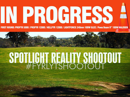 Comparing spotlights. How do the most popular lights used in Australia measure up?#FYRLYTshootout