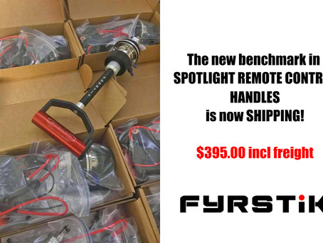 FYRSTIK spotlight remote handle is now shipping! GAME CHANGER for Professionals.