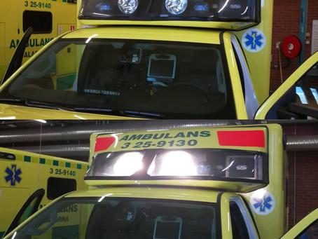 Swedish Ambulances choose FYRLYT NEMESIS 9000 driving lights.
