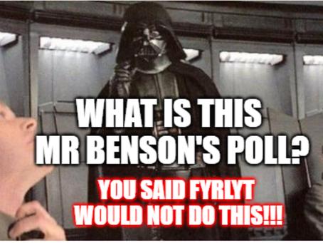 FYRLYT runs a POLL. Well Mr Benson runs one up the flag pole about LEDs... YES! LEDs!