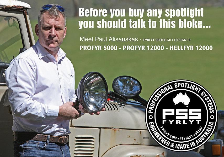 Fyrlyt Hellfyr 12000 Spotlight    Search Light