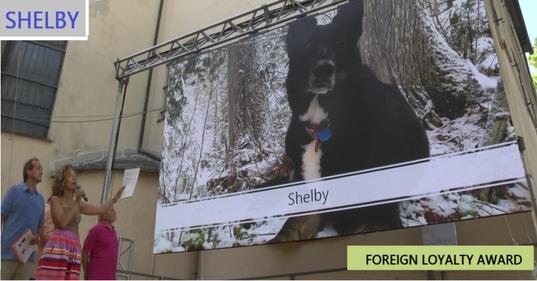SHELBY, in collegamento Skype dal Canada - premiazione con Stephen Julius