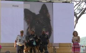ANNIE premiazione con Antonio Santacroce, Comandante Polizia Municipale Comune di Camogli