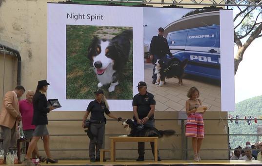 Polizia di Stato Squadra Cinofili di Genova premiazione con Paola Ronghi, Commissario Capo UPG Questura di Genova