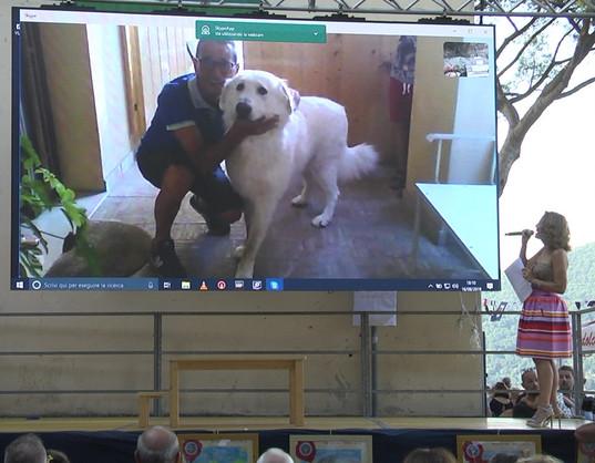 Mario Tinari e GOLIA in collegamento Skype dall'Abruzzo