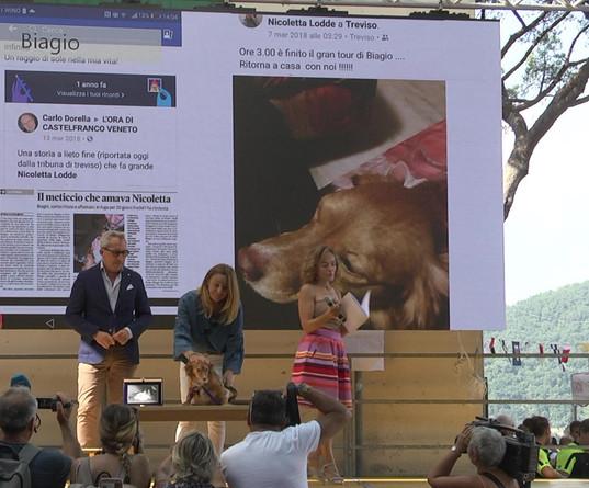 BIAGIO premiazione con Alessandro Capretti, Property Manager Abbazia di San Fruttuoso, FAI