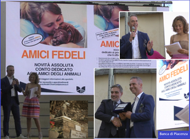 BANCA DI PIACENZA con il Vice Direttore generale Pietro Boselli Premiazione con Francesco Olivari, Sindaco di Camogli