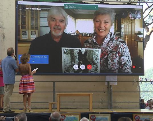 SHELBY in collegamento Skype dal Canada premiazione con Stephen Julius