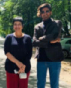 Iranian composer Amin Sharif and Chaya Czernowin in Poland