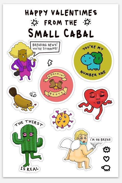 Valentimes Sticker Sheet