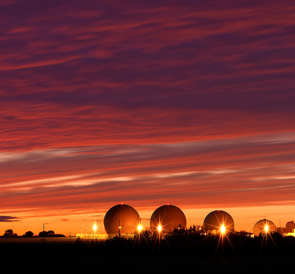 Night Sky & Satellite Dishes