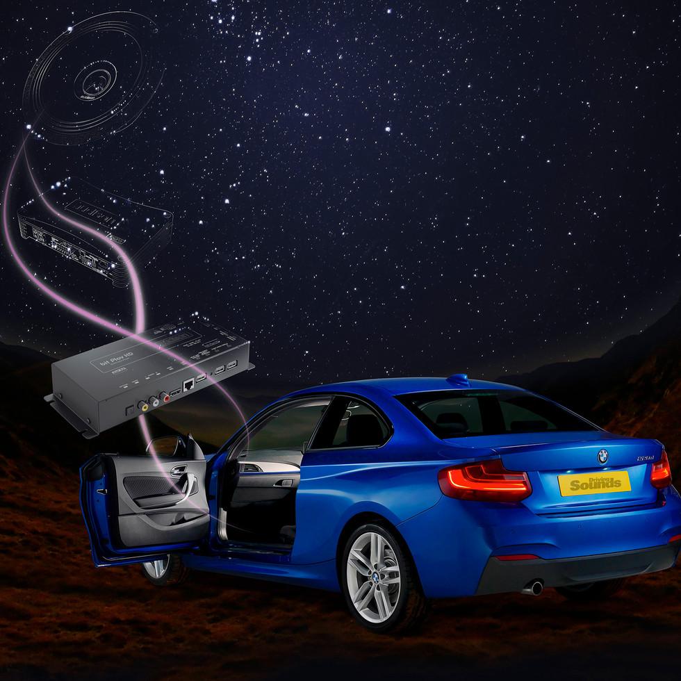 BMW On Space background, Michael Prior Studio, Photography, Brackley