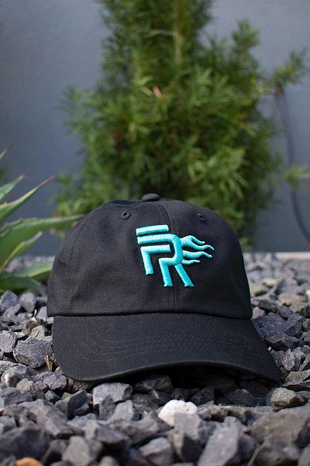 Black/Teal Low Profile Dad Hat