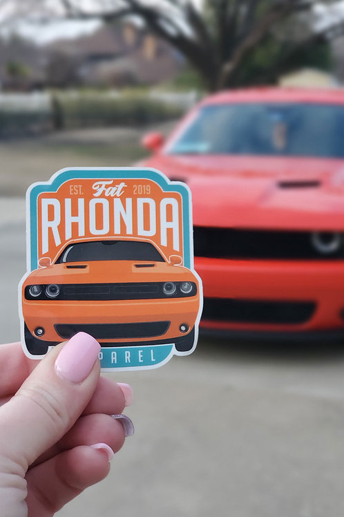 Fat Rhonda OG Vinyl Sticker