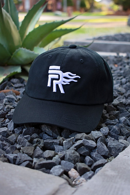 Black/White Low Profile Dad Hat
