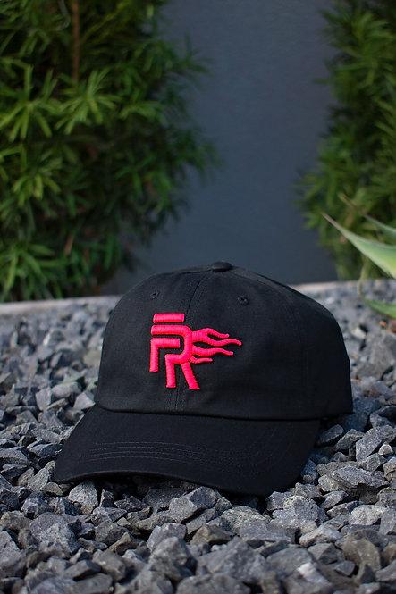 Black/Pink Low Profile Dad Hat