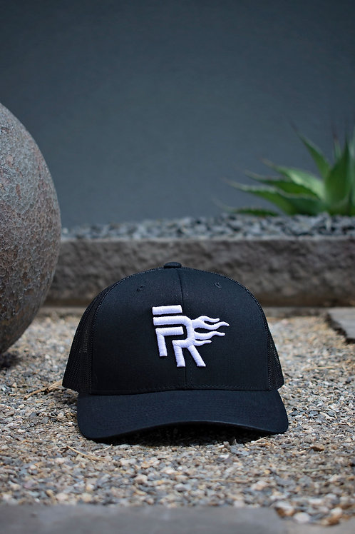 Black/White Mesh Trucker Snapback