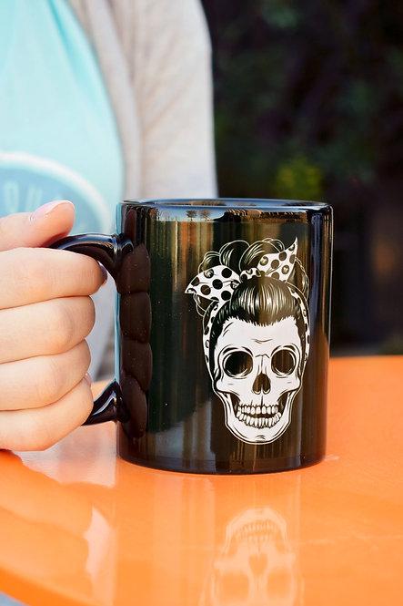 11oz Pin Up Skull Mug