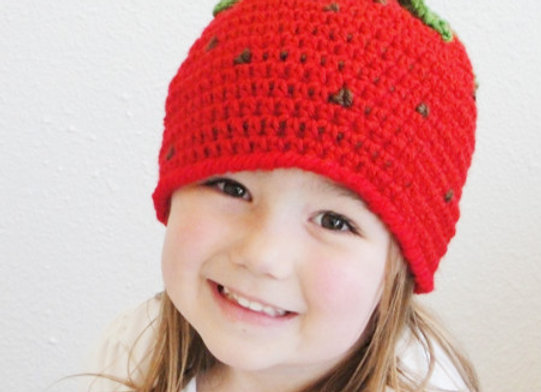 Strawberry Beanie - CROCHET PATTERN