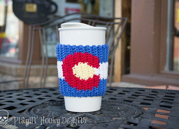 Colorado Love Coffee Cozy