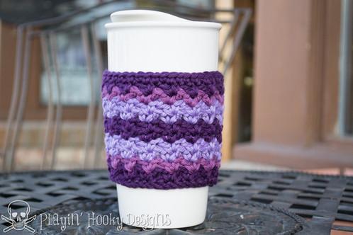 Ziggy Coffee Cozy Crochet Pattern