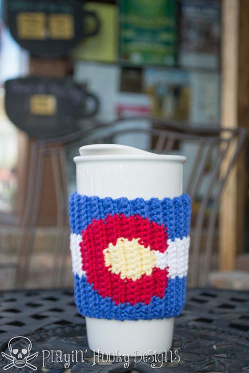 Colorado Love Coffee Cozy Crochet Pattern