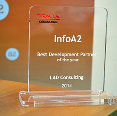 InfoA2 é a vencedora do Oracle Consulting Award 2014 como Best Development Partner