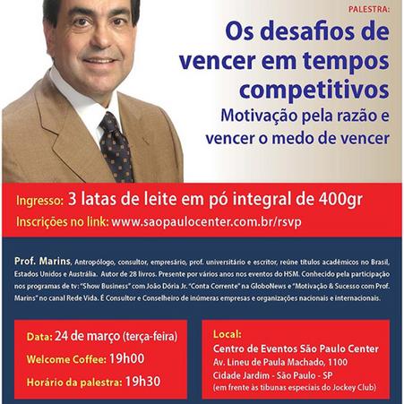 Info A2 apoia palestra com o Prof. Marins