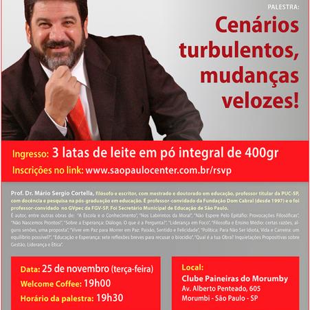 Info A2 apoia palestra com o Prof. Dr. Mário Sérgio Cortella