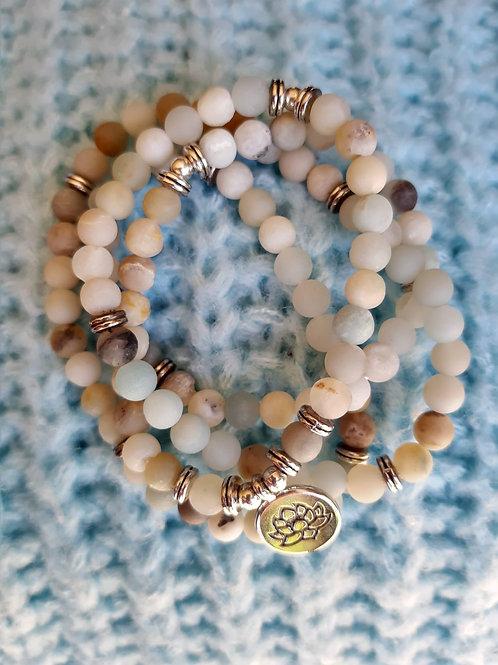 Lotusbloem Mala Armband / Ketting