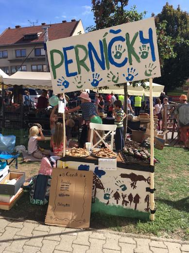 Prodej pernicku na Jarmarku