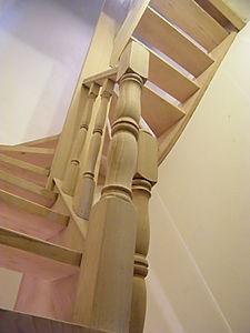 zandstralen trap, luchtgommen trap, fijnstralen trap