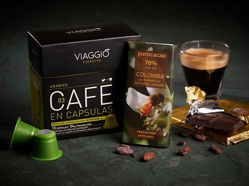 PUROCACAO + VIAGGIO CAFÉ | TABLETAS