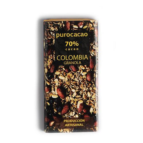 70% Colombia, con Granola. Peso 50grs