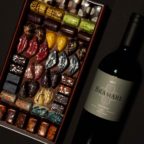 BOX BRAMARE FT PUROCACAO | Bombones & Vino